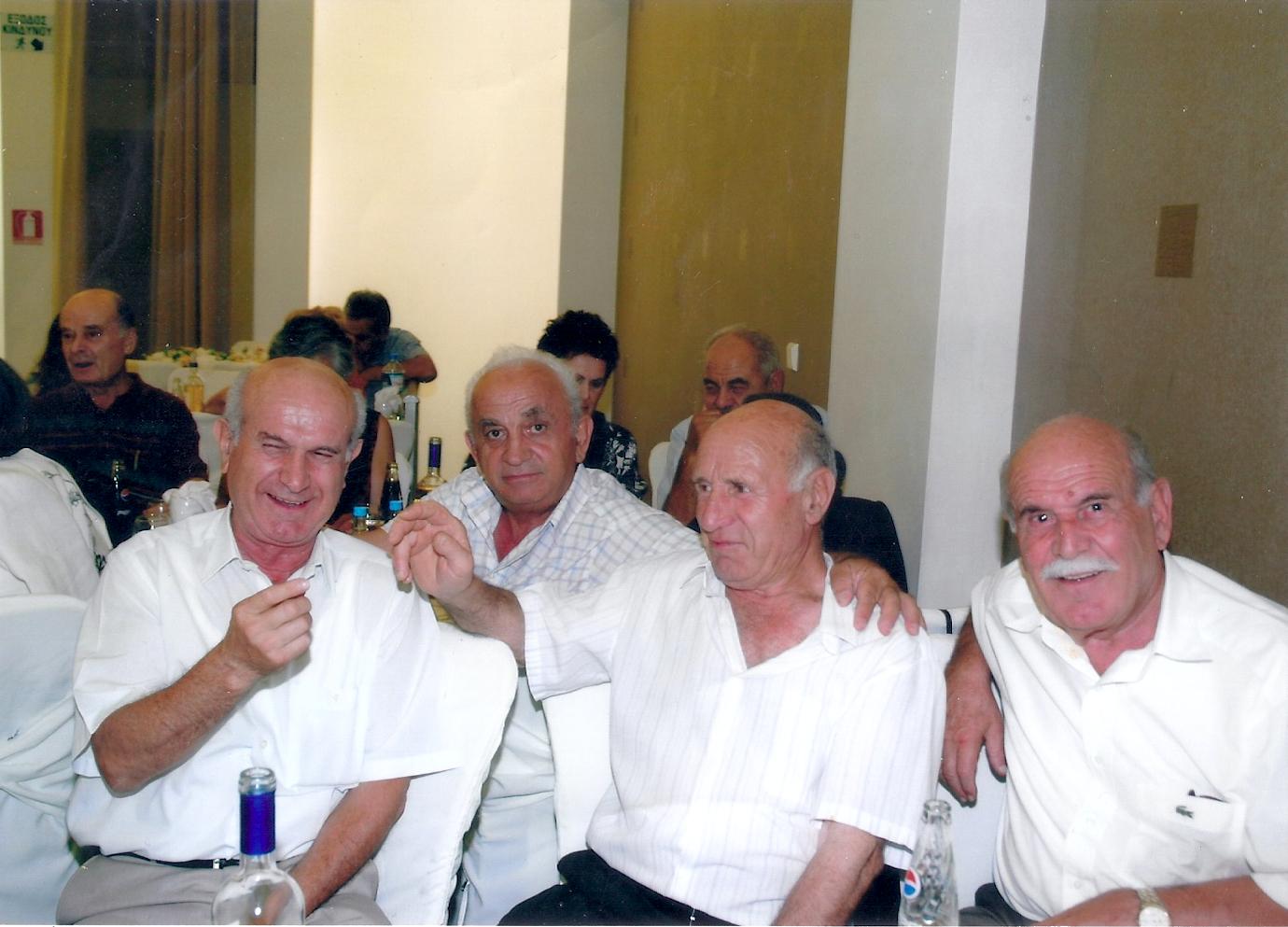 Από αριστερά Βενιαμίν Αμοιρίδης - Μιχάλης Καραγιανίδης - Νεόφυτος Αμοιρίδης - Παναγιώτης Αμοιρίδης