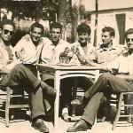 Από αριστερά: Αμοιρίδης Νεόφυτος, Ασλανίδης Αθανάσιος, Σεμερτζίδης Σταύρος, Σεμερτζίδης Κωνσταντίνος, Άγνωστος, Καραβασίλης Ματθαίος,