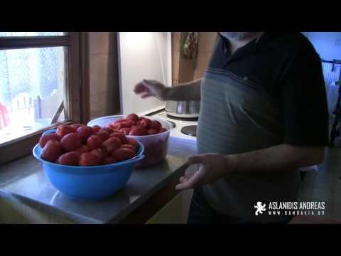 Ντοματάκια σε Βάζο για Συντήρηση